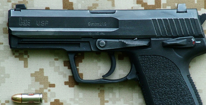 Close up of the USP